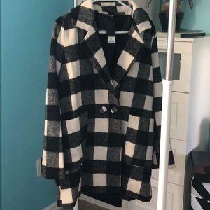 Black and white checkered coat